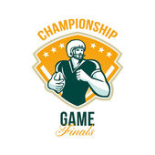 American Football Championship Game Finals Crest — Stock Photo