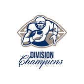 American Football Runningback Division Champions — Stock Photo