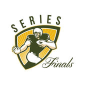 American Football Series Finals Shield — Stock Photo