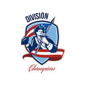 American Football Division Champions Shield Retro — Stock Photo