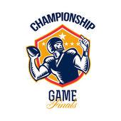 American Football Championship Game Finals Shield — Stock Photo