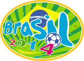 Brasil 2014 Soccer Football Ball — Stock Vector