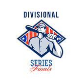 Baseball Divisional Series Finals Retro — Stock Photo
