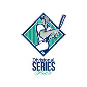 Divisional Baseball Series Finals Retro — Stock Photo