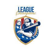 Baseball League Champions Retro — Stock Photo