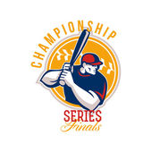 Championship Baseball Series Finals Retro — Stock Photo