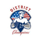 Baseball District Champions Retro — Stock Photo