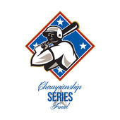 Baseball Championship Series Final Retro — Stock Photo