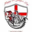 Happy St George Stand Tall Proud to be English Retro Poster — Stock Photo