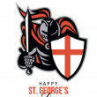 A Day for England Happy St George Greeting Card — Stock Photo #40840285