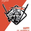 Proud To Be English Happy St George Greeting Card — Stock Photo #40840399