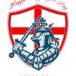 Proud to Be English Happy St George Day Shield Card — Stock Photo #40840481