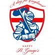Happy St George A Day for England Greeting Card — Stock Photo #40840495
