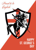 Proud to Be English Happy St George Day Retro Poster — Stock Photo