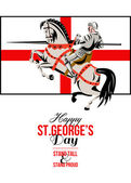 Stand Tall Stand Proud Happy St George Day Retro Poster — Stock Photo