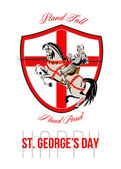 Stand Tall Happy St George Day Retro Poster — Stock Photo