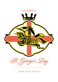 Celebrate St. George Day Proud to Be English Retro Poster — Stock Photo