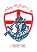 Proud to Be English Happy St George Day Shield Card — Stock Photo