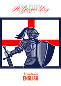Proud to Be English Happy St George Day Card — Stock Photo