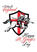 Happy St George Day A Day For England Retro Poster — Stock Photo