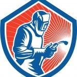 Welder Fabricator Welding Torch Side Shield Retro  — Stock Vector #43030029