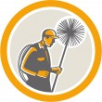Chimney Sweep Worker Retro — Stock Vector #44063715