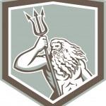 ������, ������: Neptune Holding Trident Shield Retro