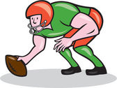 American Football Center Snap Side Cartoon — Vector de stock