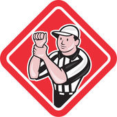 American Football Referee Illegal Use Hands — Stock Vector