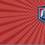 Native American Chief Shield Retro Business card — Stock Photo #45767691