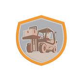 MetallicForklift Truck Materials Handling Logistics Shield — Stock Photo