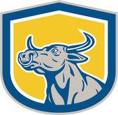 雄牛の頭盾レトロ — ストックベクタ