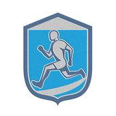 Metallic Sprinter Runner Running Shield Retro — Foto de Stock