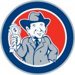 Businessman Rich Man Money Cartoon — Stock Vector #50504993