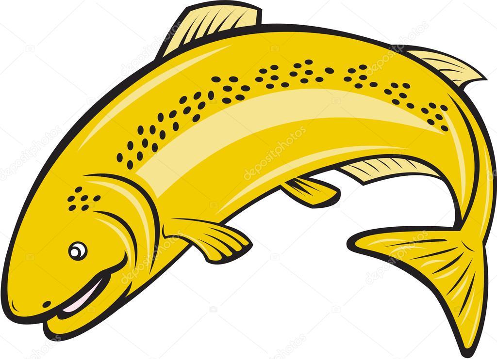 Dessin anim saut truite arc en ciel poisson image - Dessin truite ...