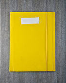 Yellow folder — Stock Photo
