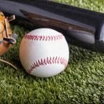 Ball and glove — Stock Photo