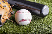 Ball and glove — Foto de Stock