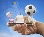 Smartphone entertainment — Stockfoto