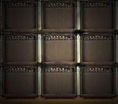 Wall of amps — Stock Photo