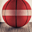 Latvia basketball — Stock Photo
