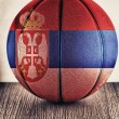 Serbia basketball — Stock Photo