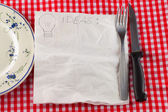 Napkin for ideas — Stock Photo