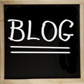 Blog de pizarra — Foto de Stock