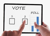 Tablet for vote — Stock Photo