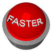 Faster button — Stock Photo