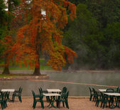 термальное озеро — Стоковое фото