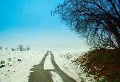 Droga w śniegu — Zdjęcie stockowe