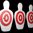 Stock Photo: Silhouette targets