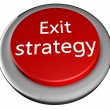 Exit strategy button — Stock Photo